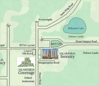Gallery Cover Image of 1800 Sq.ft 3 BHK Apartment for rent in Salarpuria Sattva Serenity, HSR Layout for 45000