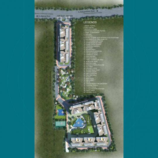 Project Image of 1203.0 - 1586.0 Sq.ft 3 BHK Apartment for buy in Blue