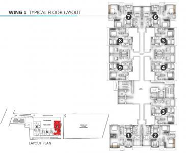 Project Image of 633.99 - 789.53 Sq.ft 2 BHK Apartment for buy in Shanti Mohan Ganga Asmi