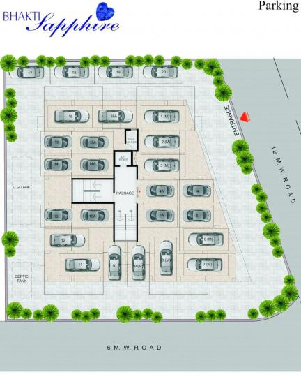 Project Image of 670.0 - 787.0 Sq.ft 2 BHK Apartment for buy in Meghaswana Bhakti Sapphire