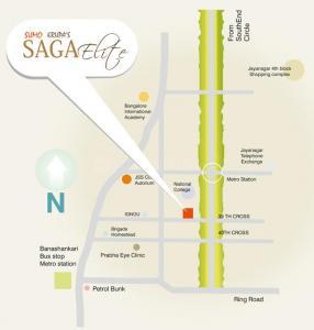सूमो प्रॉपर्टीज़ सागा इलाइट में खरीदने के लिए 0 - 4000 Sq.ft 3 BHK अपार्टमेंट प्रोजेक्ट  की तस्वीर