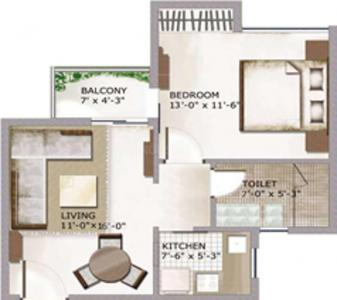 Project Image of 575.0 - 2150.0 Sq.ft 1 BHK Apartment for buy in Oneiric Epic Residency