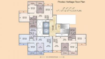 Gallery Cover Image of 1100 Sq.ft 2 BHK Apartment for rent in Proviso Builders Complex, Kharghar for 17500