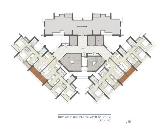 Project Image of 0 - 586.96 Sq.ft 2 BHK Apartment for buy in Kalpataru Paramount A
