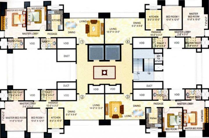 Project Image of 999.0 - 1000.0 Sq.ft 2 BHK Apartment for buy in Hiranandani Casa Marina CHS