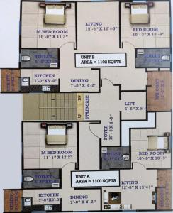 Project Image of 1100.0 - 1102.0 Sq.ft 2 BHK Apartment for buy in ROI Mathrushree Nilaya