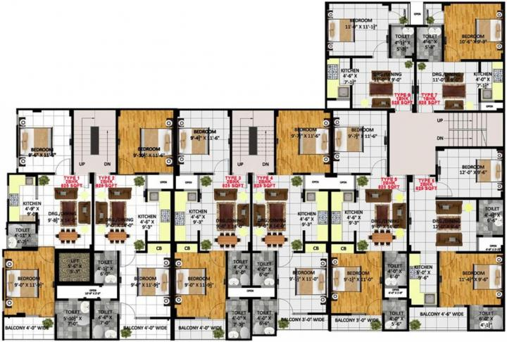 Project Image of 525.0 - 825.0 Sq.ft 1 BHK Apartment for buy in Kritak Rzone Homes