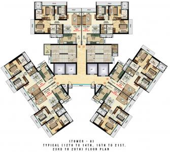 Project Image of 725.49 - 886.62 Sq.ft 2 BHK Apartment for buy in Bhoomi Celestia A Wing