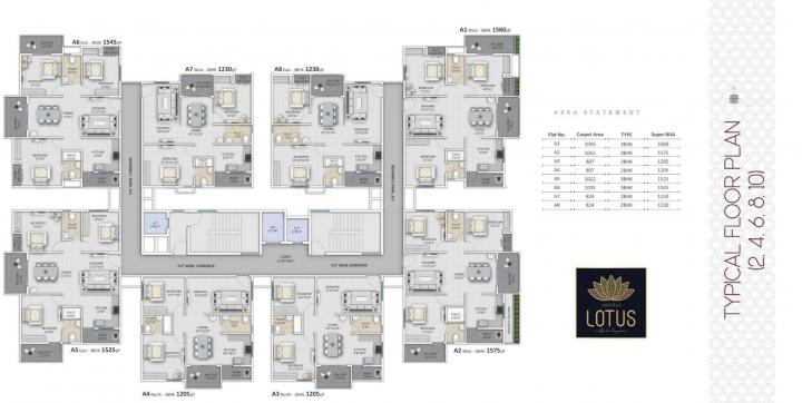 Project Image of 1205.0 - 1575.0 Sq.ft 2 BHK Apartment for buy in Ankuraa Lotus