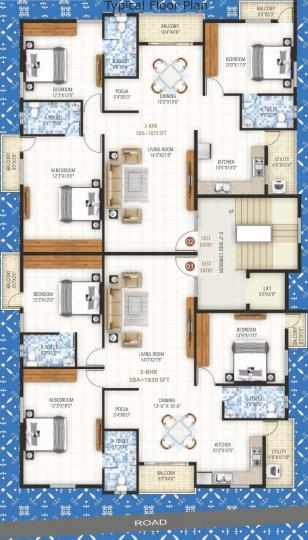 Project Image of 1830.0 - 1875.0 Sq.ft 3 BHK Apartment for buy in Dharma Elite