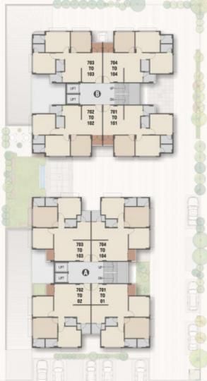 Project Image of 0 - 800.0 Sq.ft 3 BHK Apartment for buy in Aaryan Homes 2
