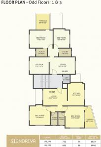 Project Image of 985 - 1039 Sq.ft 2 BHK Apartment for buy in Pate Signoriya