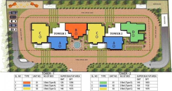 Project Image of 1132.0 - 1603.0 Sq.ft 2 BHK Apartment for buy in Prestige Fontaine Bleau