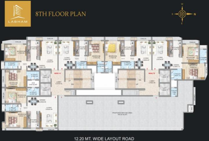 Project Image of 415.92 - 866.93 Sq.ft 1 BHK Apartment for buy in Gurukrupa Labham Residency
