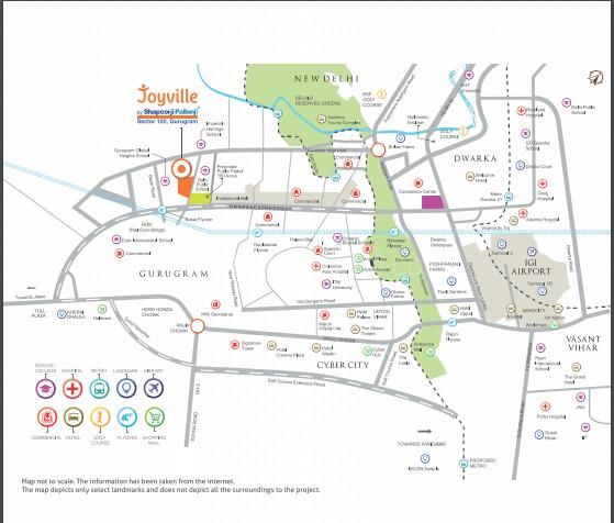 Project Image of 915.0 - 2180.0 Sq.ft 2 BHK Apartment for buy in Shapoorji Pallonji Joyville Gurugram Phase III