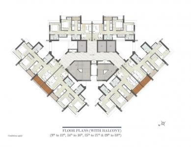 Project Image of 0 - 587.0 Sq.ft 2 BHK Apartment for buy in Kalpataru Paramount B