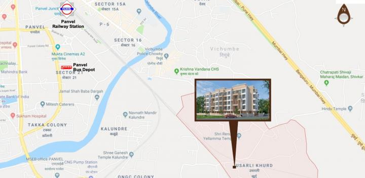 Project Image of 285.0 - 429.0 Sq.ft 1 BHK Apartment for buy in Maitree Shiv Shambho Complex