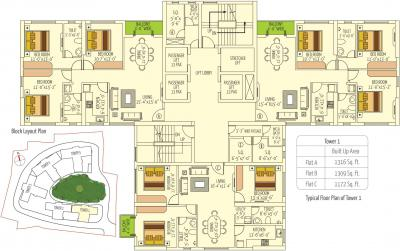 Gallery Cover Image of 1809 Sq.ft 3 BHK Apartment for buy in Prasad Rare Earth, Phool Bagan for 17500000