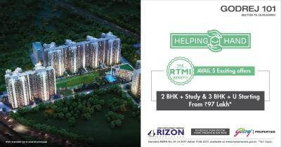 Project Image of 1351.0 - 2289.0 Sq.ft 2 BHK Apartment for buy in Godrej Aria