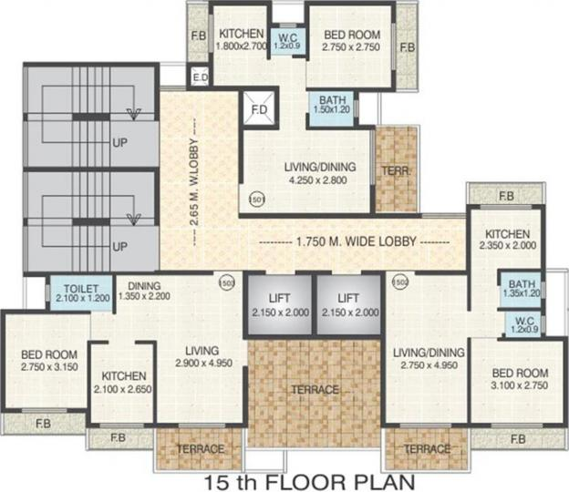 Project Image of 191.81 - 400.74 Sq.ft 1 BHK Apartment for buy in RD Parvati Emperia