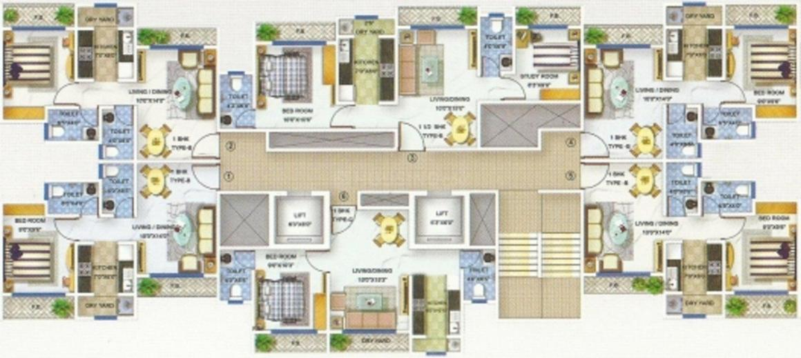 Project Image of 325.82 - 535.07 Sq.ft 1 BHK Apartment for buy in Bhoomi Group Acropolis 1