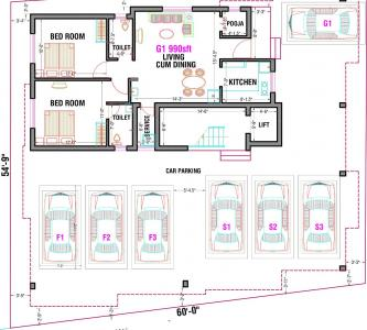 Project Image of 895.0 - 1035.0 Sq.ft 2 BHK Apartment for buy in Abiraami Anantham