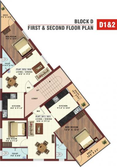 Project Image of 897.0 - 947.0 Sq.ft 2 BHK Apartment for buy in Oyester Bliss Yard