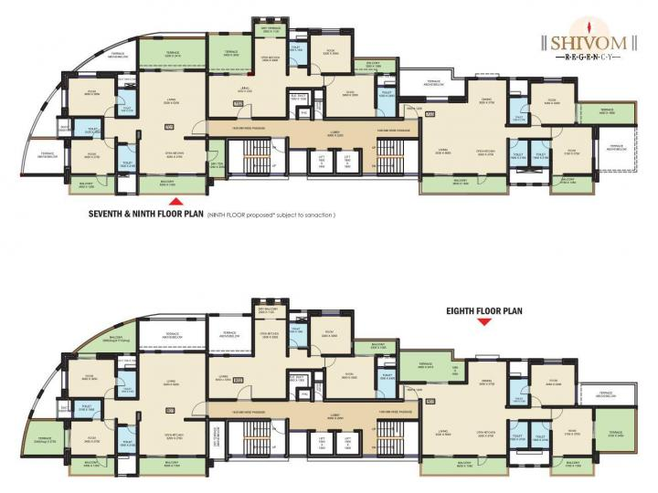 Project Image of 587.0 - 1295.0 Sq.ft 2 BHK Apartment for buy in Space Shivom Regency