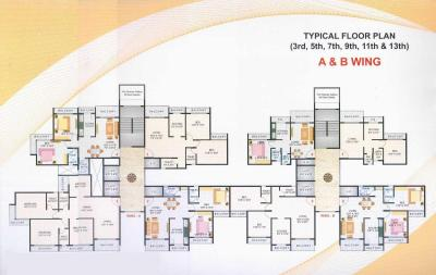Gallery Cover Image of 1200 Sq.ft 2 BHK Apartment for rent in Raikar Yashodeep Height, Rabale for 30000