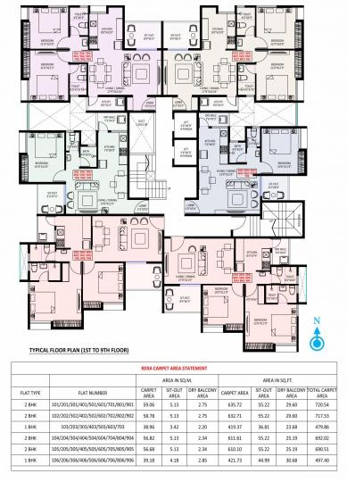 Project Image of 419.36 - 635.72 Sq.ft 1 BHK Apartment for buy in Kiran Sanskriti