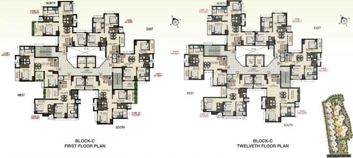 Project Image of 913.0 - 1205.0 Sq.ft 2 BHK Apartment for buy in Real Padmasri