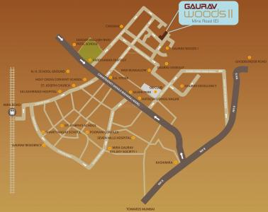 Gallery Cover Image of 1025 Sq.ft 2 BHK Apartment for rent in Ravi Gaurav Woods II, Mira Road East for 18000