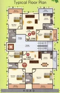 एस वी मोकषा ग्रीन में खरीदने के लिए 1010.0 - 1320.0 Sq.ft 2 BHK अपार्टमेंट प्रोजेक्ट  की तस्वीर
