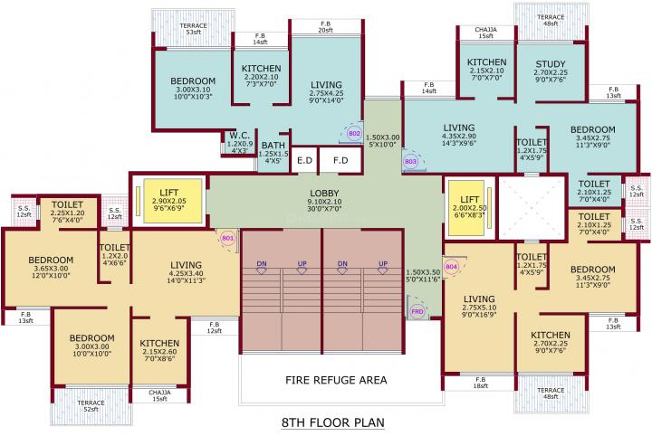 Project Image of 705.0 - 1050.0 Sq.ft 1 BHK Apartment for buy in City Century One