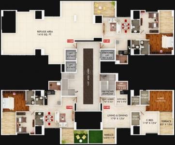 Project Image of 591.0 - 1626.0 Sq.ft 2 BHK Apartment for buy in Gagan Unnatii Phase 2