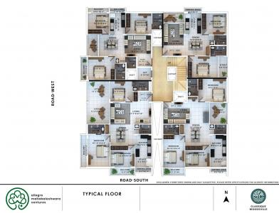 Project Image of 1168.0 - 1931.0 Sq.ft 2 BHK Apartment for buy in Classique Woodsville