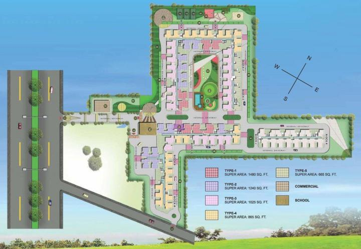 Project Image of 665 - 1480 Sq.ft 1 BHK Apartment for buy in Techman Moti City