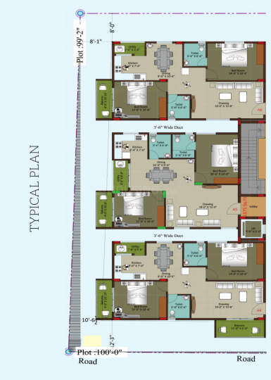 Project Image of 1190.0 - 1510.0 Sq.ft 2 BHK Apartment for buy in Sri Sway Symphony
