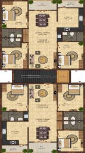 Project Image of 1520.0 - 1525.0 Sq.ft 3 BHK Apartment for buy in Shree Nivasam
