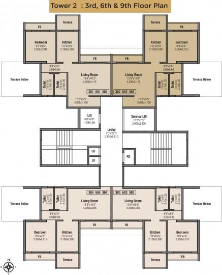 Project Image of 295.58 - 499.23 Sq.ft 1 BHK Apartment for buy in Bhumiraj Hills Tower 2 And 3