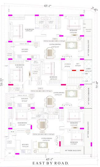 Project Image of 950.0 - 1160.0 Sq.ft 2 BHK Apartment for buy in INA Sai Ram