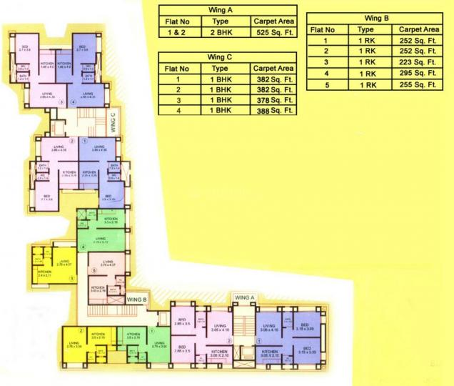 Project Image of 565 - 750 Sq.ft 1 BHK Apartment for buy in Parshva Anand Mangal Complex
