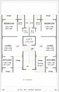 Project Image of 360.0 - 432.0 Sq.ft 1 RK Apartment for buy in Pacific Gokul Dham