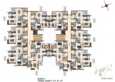 Gallery Cover Image of 1146 Sq.ft 3 BHK Apartment for buy in Casagrand Sereno, Thalambur for 3800000