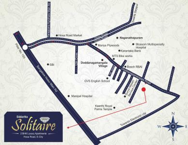 Project Image of 930.0 - 980.0 Sq.ft 2 BHK Apartment for buy in Siddartha Solitaire Phase 1