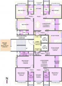 Project Image of 760.0 - 1026.0 Sq.ft 3 BHK Apartment for buy in Integrated Ahana
