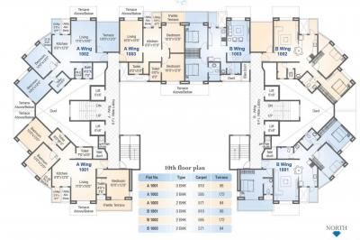 Project Image of 571.0 - 1038.0 Sq.ft 2 BH Apartment for buy in Soham Riveria
