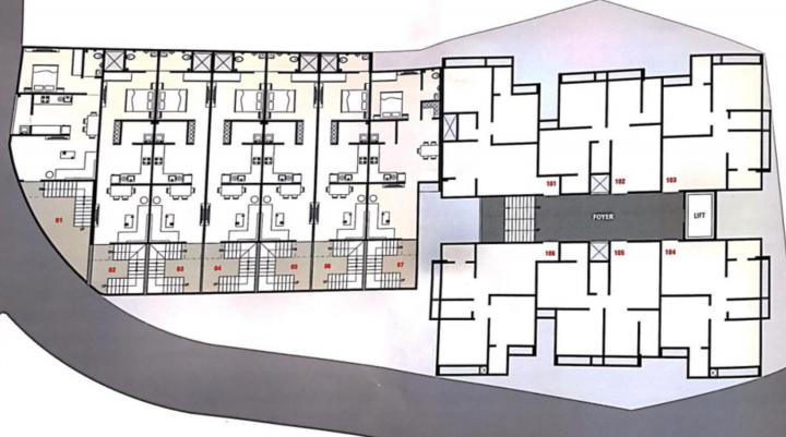 Project Image of 990 - 2700 Sq.ft 2 BHK Apartment for buy in RK Madni Residency