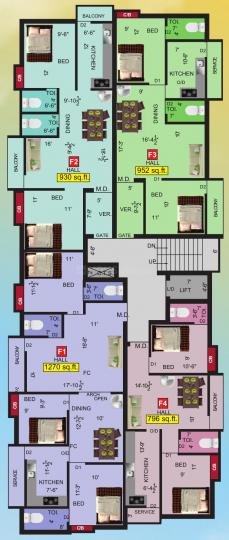 Project Image of 796.0 - 1270.0 Sq.ft 2 BHK Apartment for buy in VGK Dharika