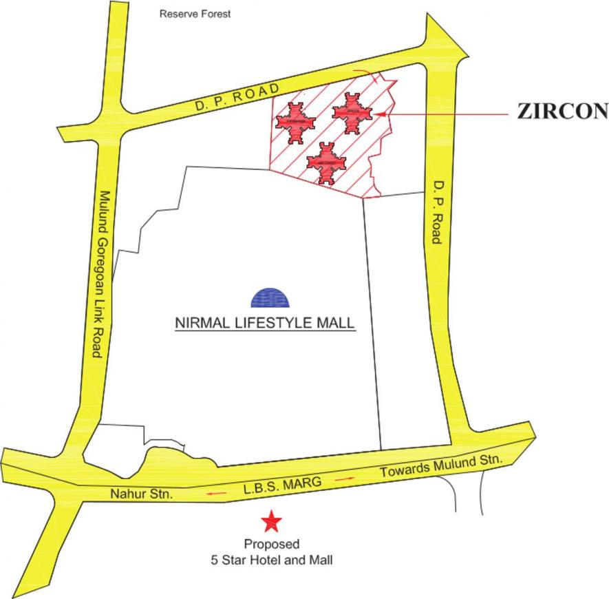 Project Image of 749.92 - 1432.68 Sq.ft 2 BHK Apartment for buy in Nirmal Lifestyle Zircon